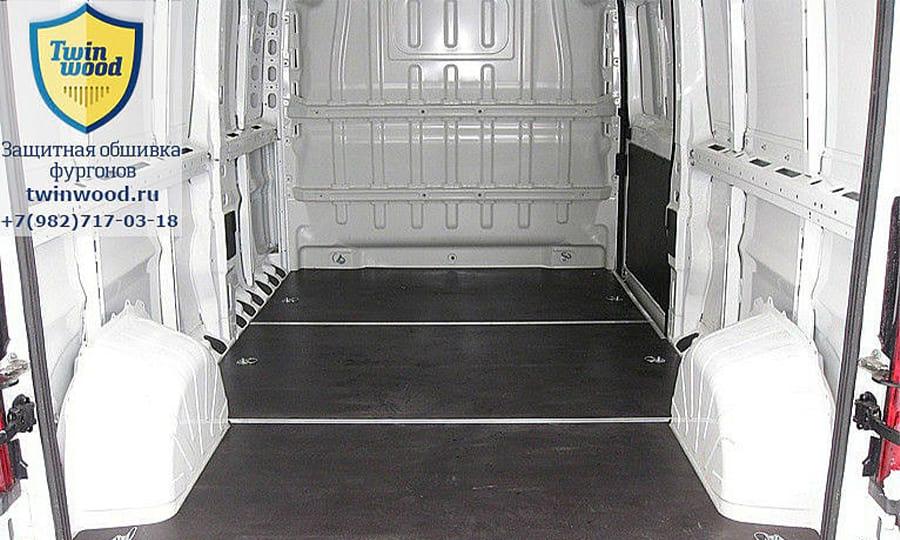 Обшивка фургона Citroen Jumper L3H3: Подготовка к установке обшивки стен