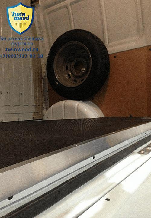 Обшивка фургона ГАЗ 2752 Соболь L1H1: Пол (вид сзади)
