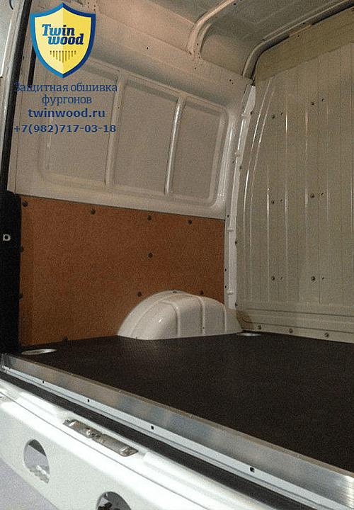 Обшивка фургона ГАЗ 2752 Соболь L1H1: Стены и пол (левая сторона)
