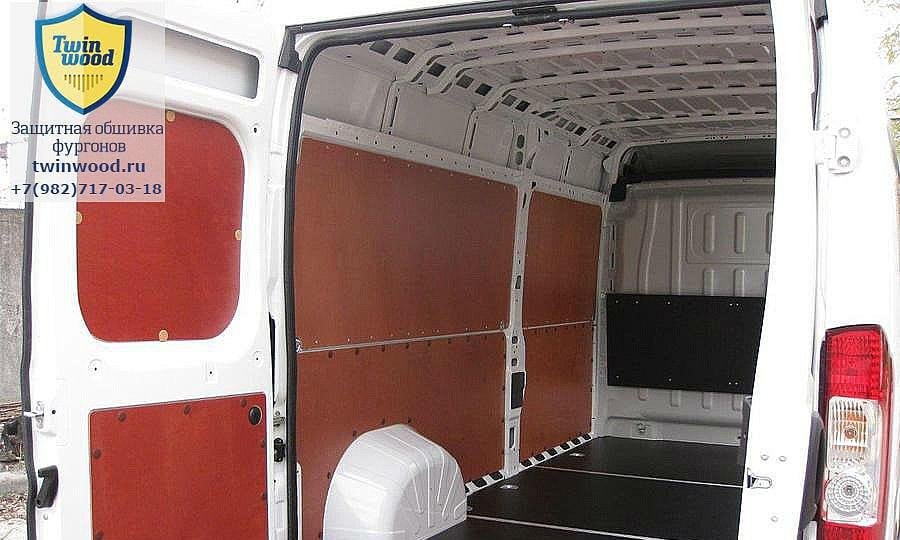 Обшивка фургона Citroen Jumper L3H3: Задние двери, стены и пол